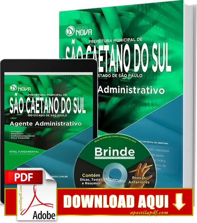 Apostila Prefeitura de São Caetano do Sul 2015 Agente Administrativo PDF Download Grátis