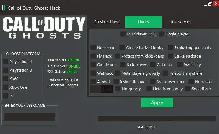Call of Duty Ghosts Cheat/Hack