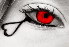Crying_My_Heart_Out_For_You_Lover of Fiction - عندما يبكى القلب - بنت فتاة امرأة تبكى دم دما حب قلب رومانسى دموع حمراء