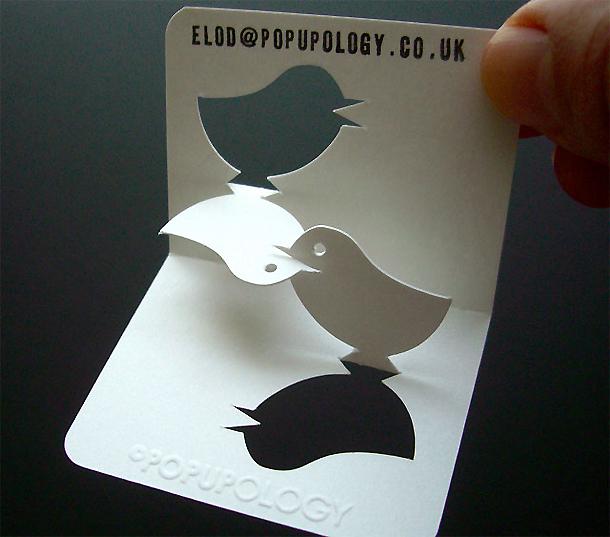cartões de visita criativos - Popupolopgy
