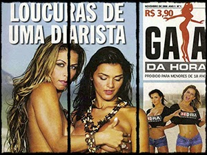 Loucuras de uma Diarista na Revista Gata da Hora De 2006