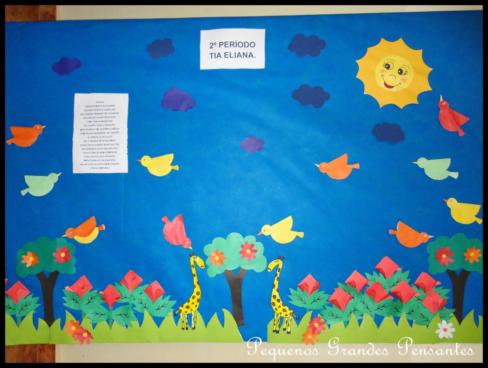 Pequenos grandes pensantes murais para semana dos animais for Mural sobre o meio ambiente