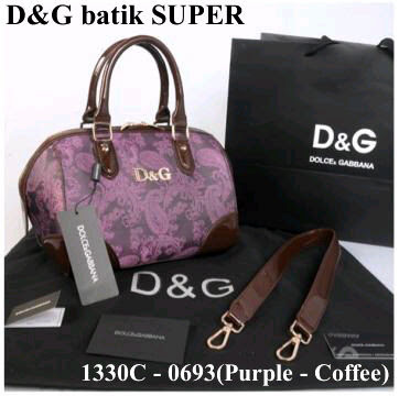 Tas New D&G 1330C-0693 Speedy Batik Super (Purple)