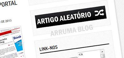 IMAGEM: Como pode ficar um link para artigo aleatório em seu blog