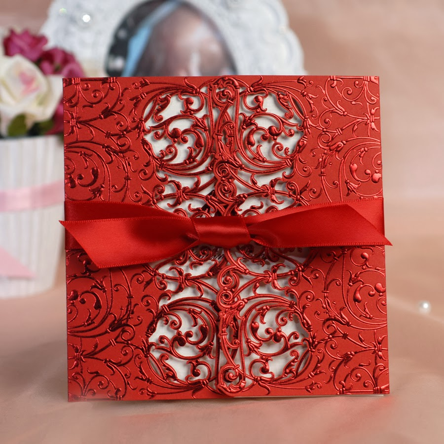 Memorable Wedding: Say it With Style - Red Wedding Invitations ...