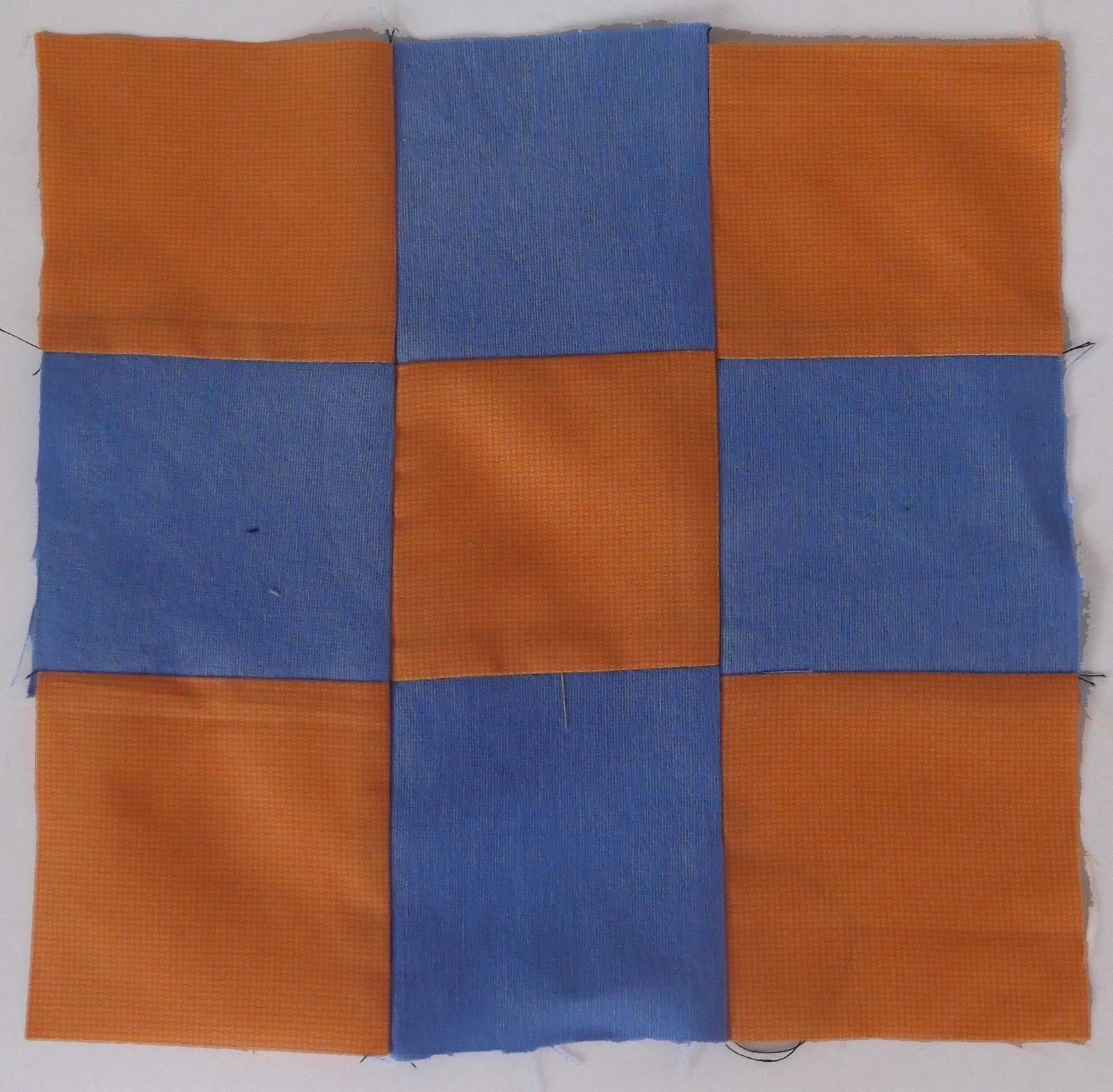 nine square patchwork. checkerblock patchwork