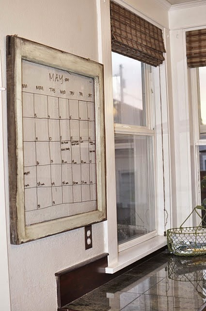 kalendarz diy ścienny 2015