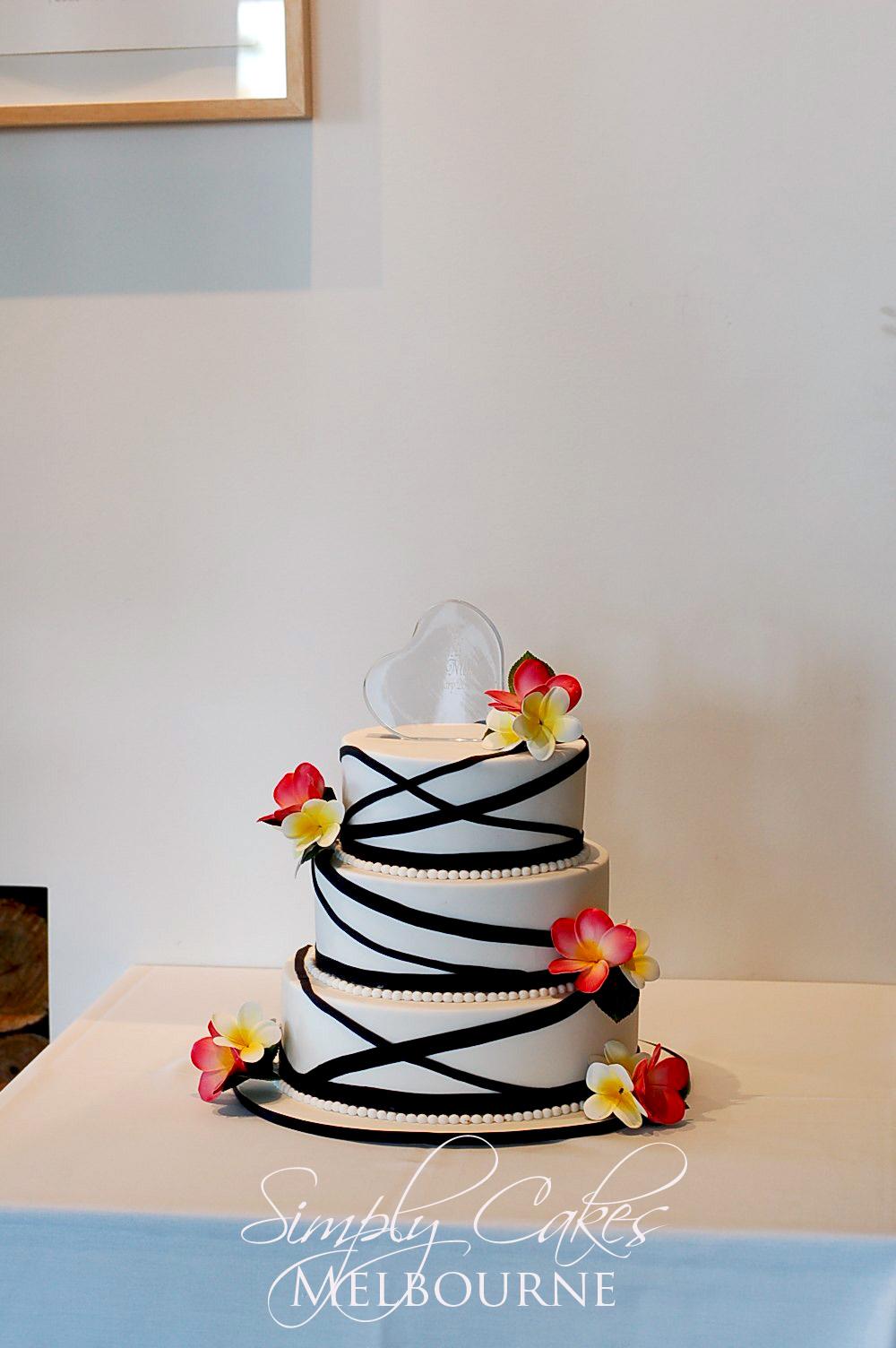 Simply Cakes Melbourne: Frangipani Wedding Cake