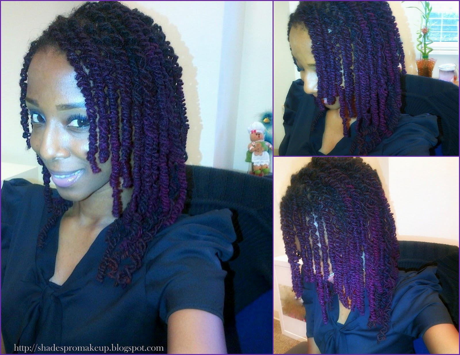 D I Y Hair Purple Hair And I Don T Care Shades N Styles