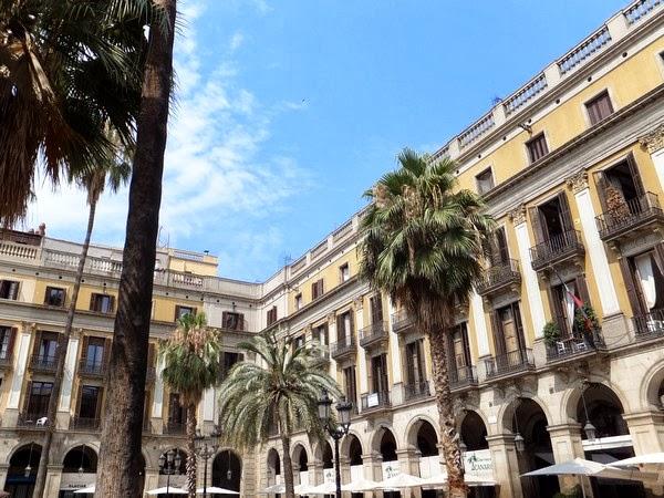 barcelone barri gotic plaça reial