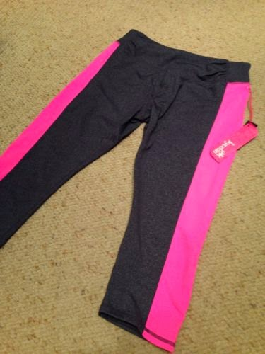 Style Athletics Hot Pink and Gray CApri Pants