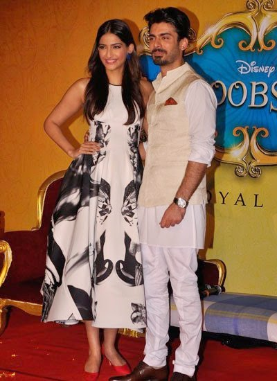 Sonam Kapoor & Fawad Khan  at Trailer launch of 'Khoobsurat'