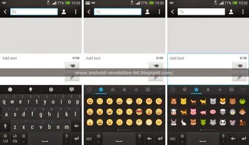 Nuova tastiera Android con molte nuove Emoticon sugli smartphone android Htc Sense 5.5