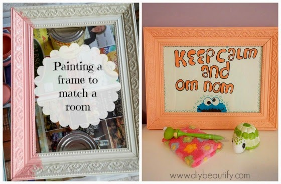 DIY beautify blog Painting a frame to match room