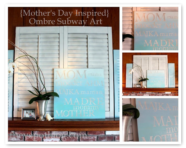 typographic, artwork, Mother's Day, mom, blue, ombre