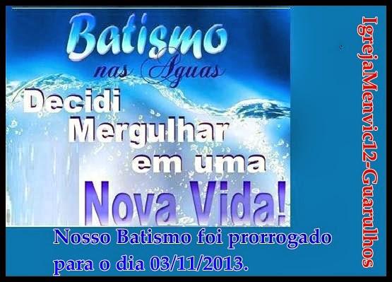 Batismo nas Águas.