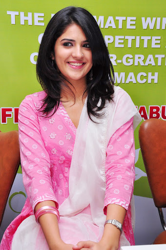 Deeksha Seth Photos in Pink Churidar Dress at Sunshine Kebabs Event Launch