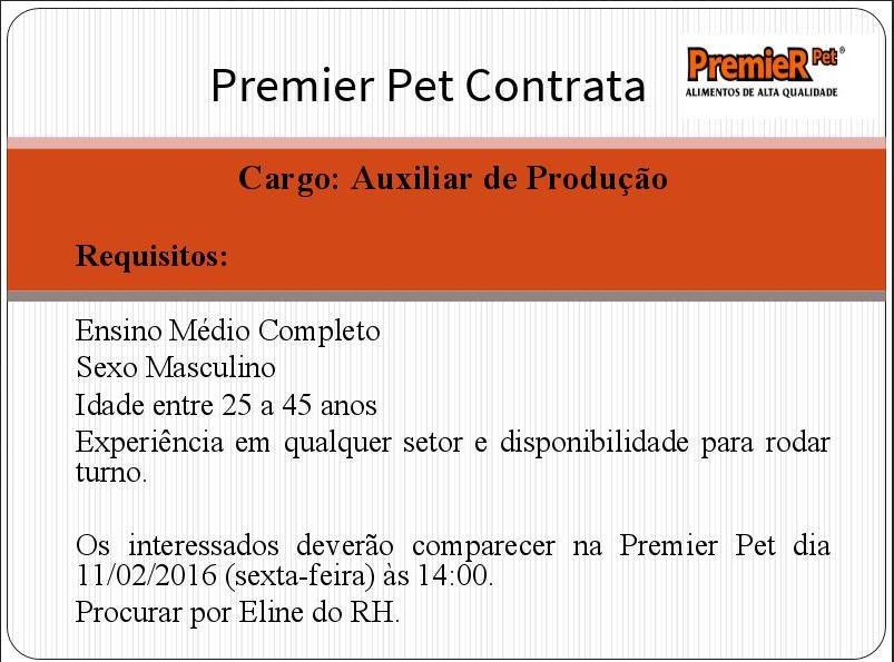 PREMIER PET Contrata