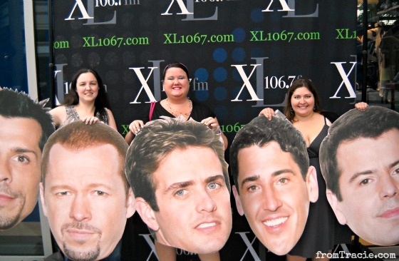 Posing With New Kids On The Block Giant Heads