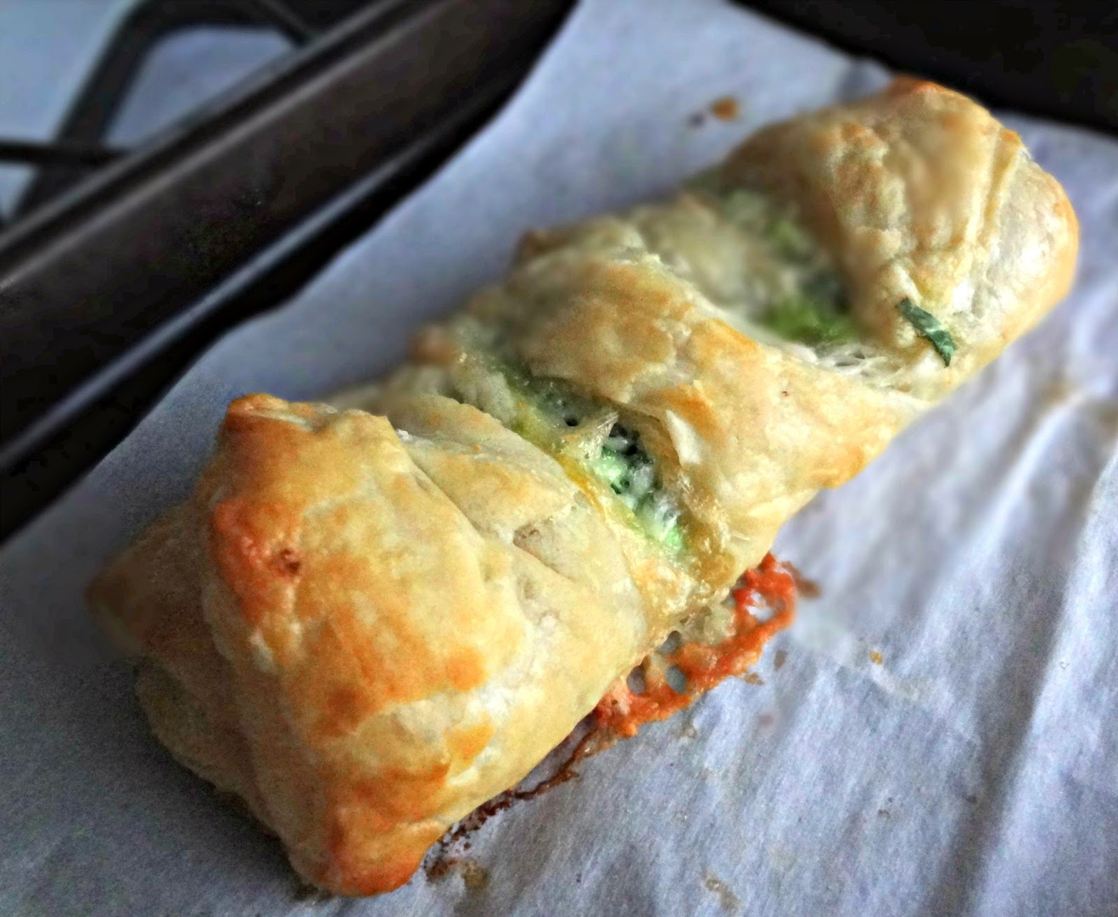 The Cooking Act... Meat Spinach Cheese Pastry