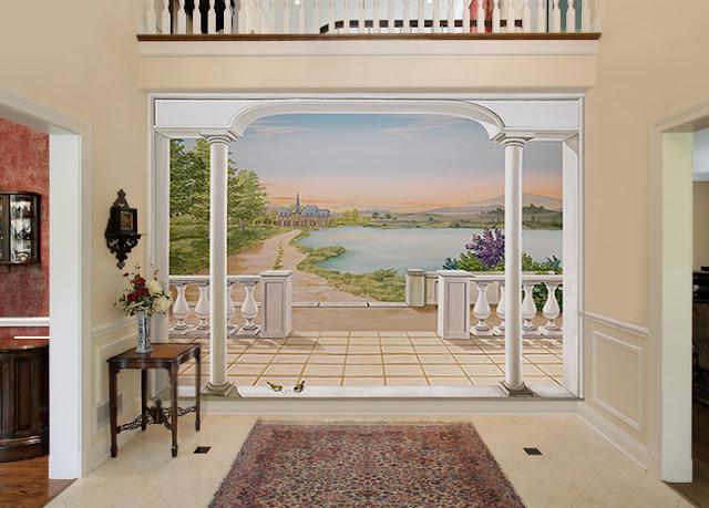 papier peint panoramique paysage