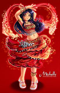 dibujos danza arabe