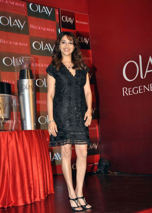 madhuri dixit in black event shoot latest photos