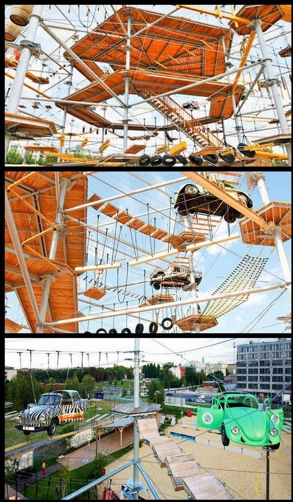 Mount Center, Taman Untuk Parkour dan Pemanjat Di Berlin