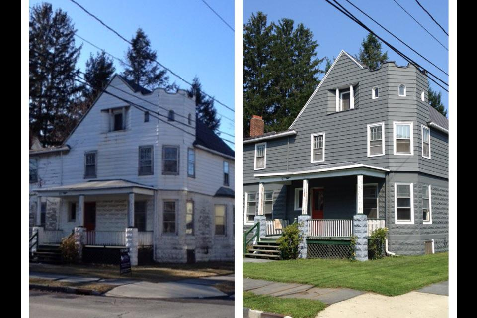 The Saint James Kingston Before And Almost After View Of The Exterior Paint Job