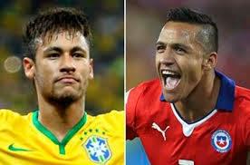 Brasil vs Chile, partido amistoso.