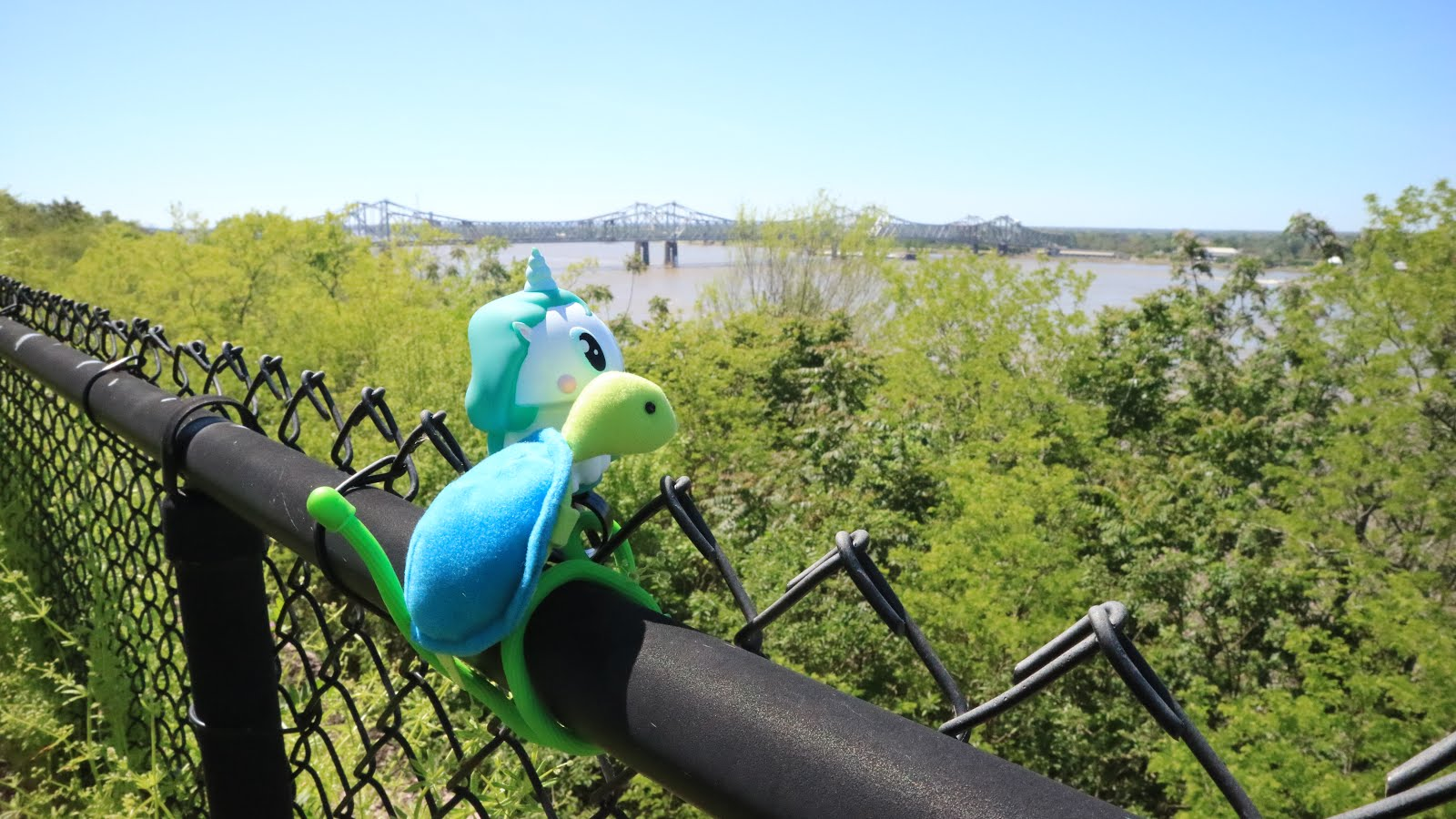 Karyn et Franklin devant le Mississippi