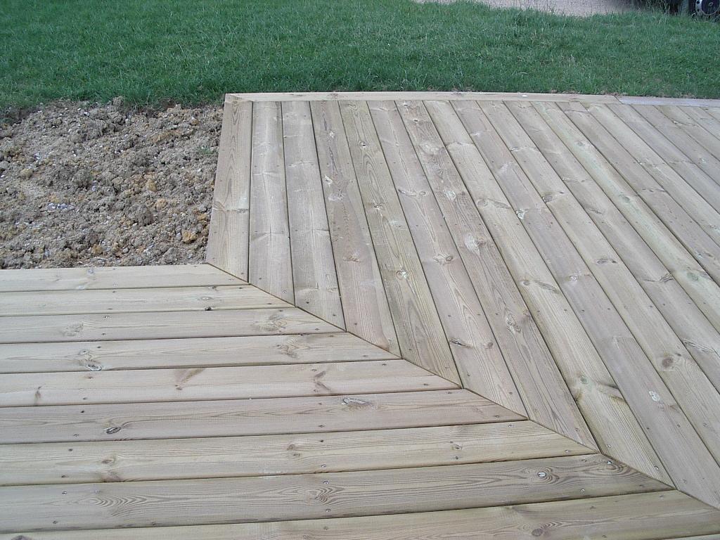 terrasse bois poutrelle beton diverses