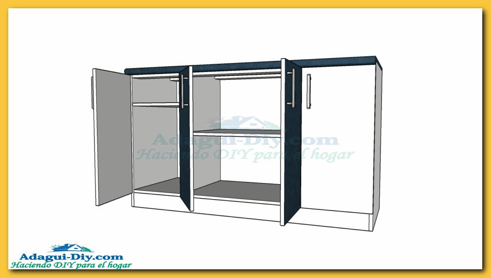 Como hacer muebles de cocina plano mueble bajo mesada de for Software para fabricar muebles de melamina