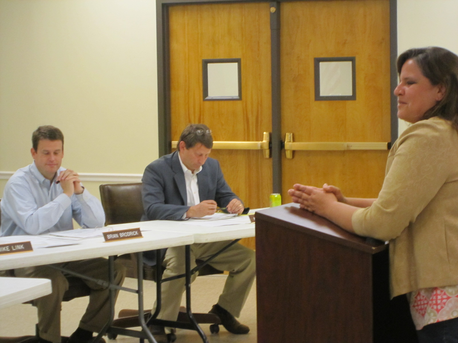 More scenes from last night\'s Watkinsville City Council meeting