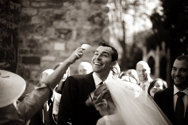 Confetti throw at London Wedding at All Saints Church in Fulham