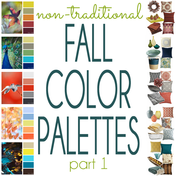 Non-Traditional Fall Color Palettes Mood Boards Part 1