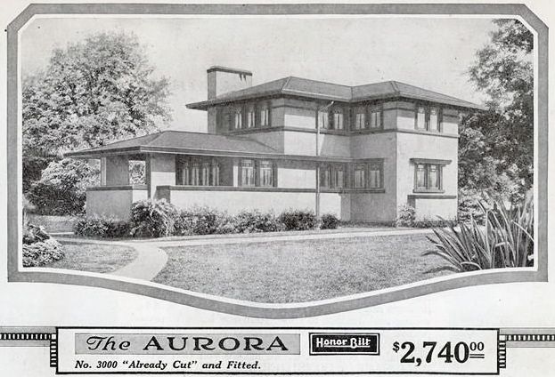 The sears homes designed by a prairie school architect for Catalog houses