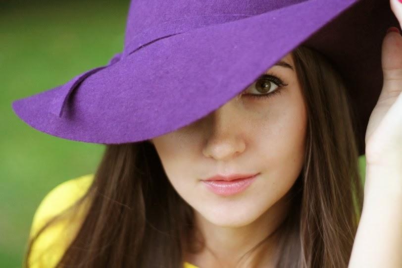 felt hat, purple hat, hat with wide brim, шляпа на осень, шляпа из фета, широкие поля