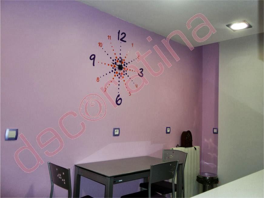 Decoratina vinilos decorativos en las palmas reloj de vinilo decorativo - Reloj vinilo decorativo ...