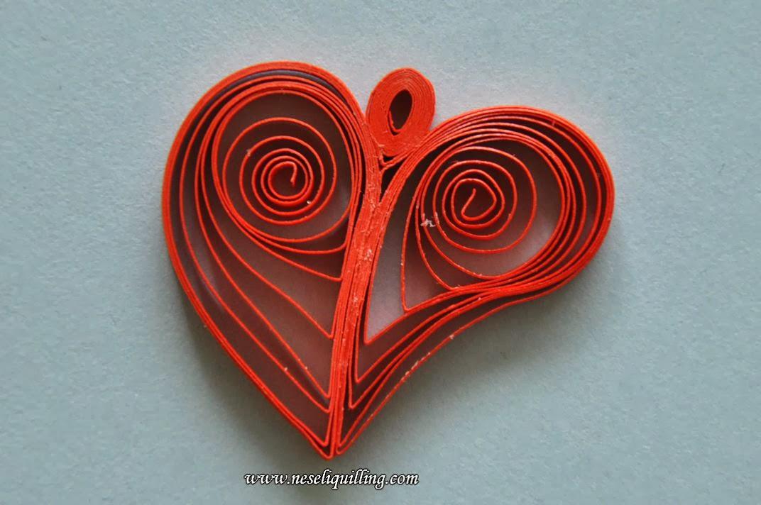 neseli quilling heart