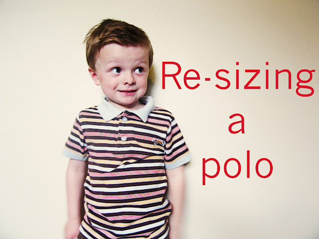 Polo Shirt Refashion tutorial