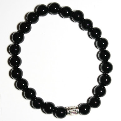 Onyx with Lucky Charm Bead