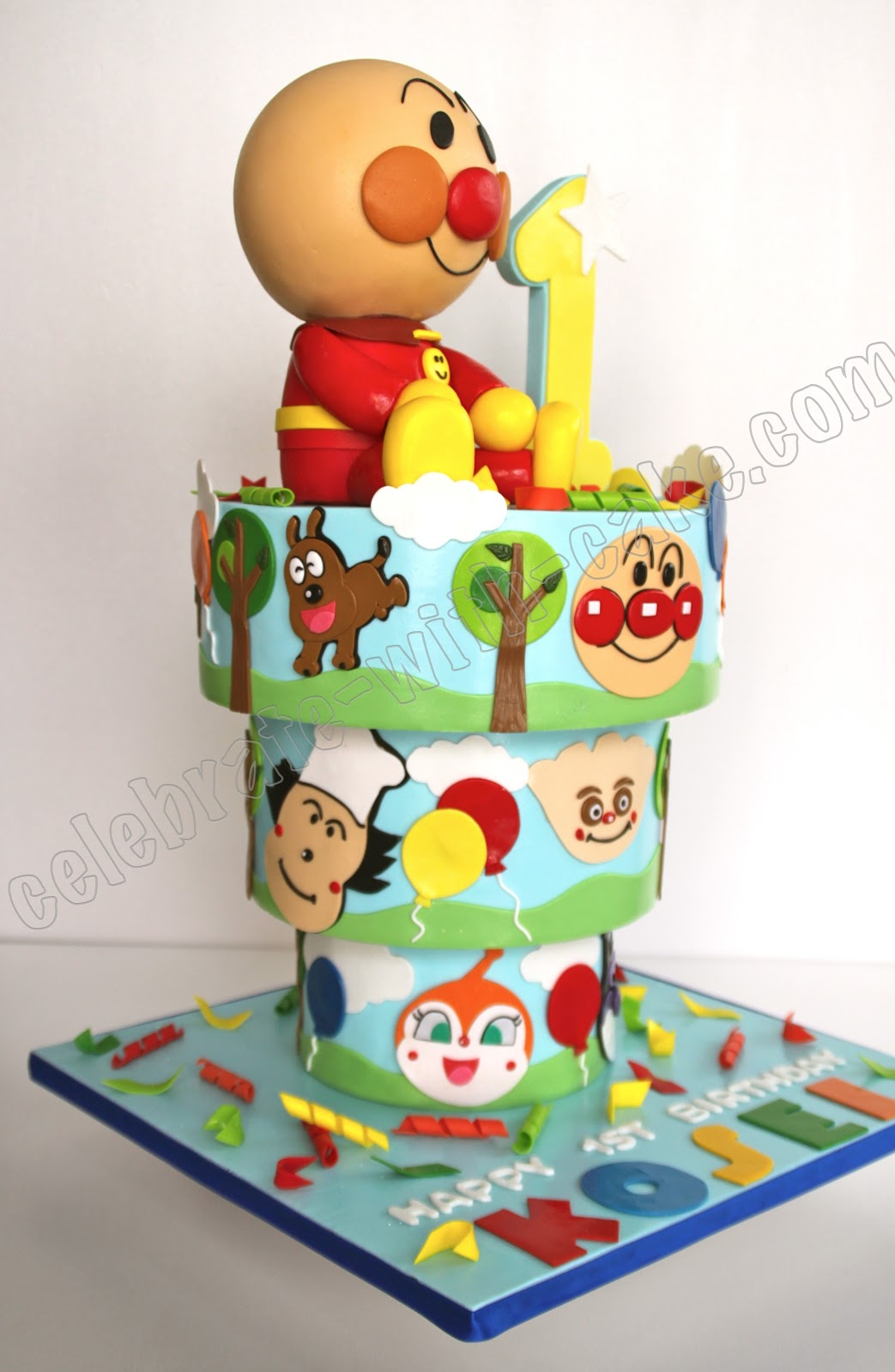 Celebrate With Cake Upside Down Anpanman Cake