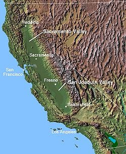 Geography Map of California 3
