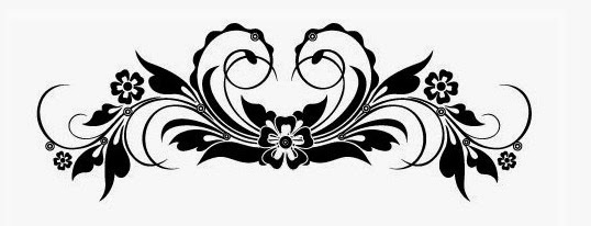 Lower back flower tattoo stencil