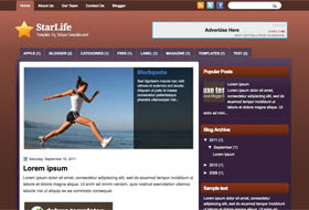 StarLife Blogger Template