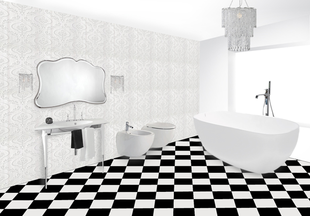 Seaseight design blog reader request luxury and indulgent bathroom - Bagno bianco e nero ...