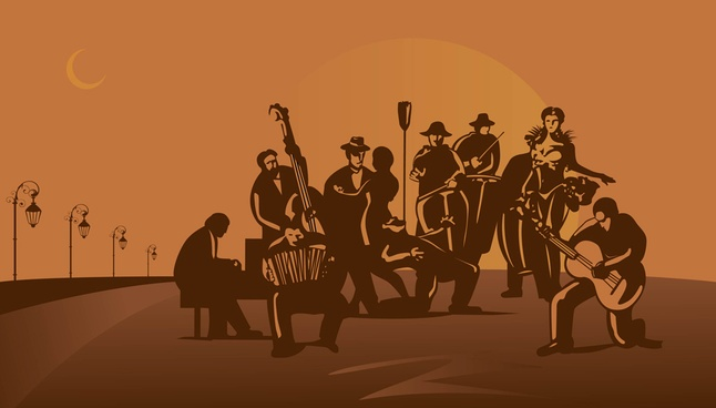90+ Free Music Dance Silhouette Vector Art Download