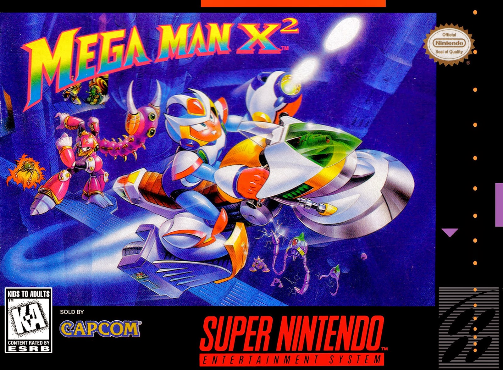 mega man x2 snes cover