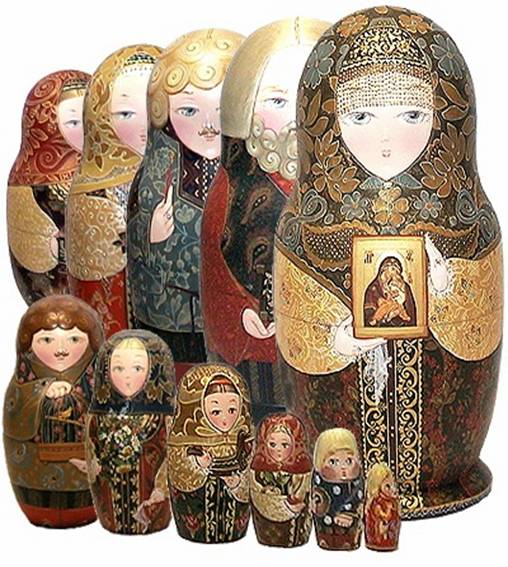 Frimmbits matryoshka or russian nesting dolls